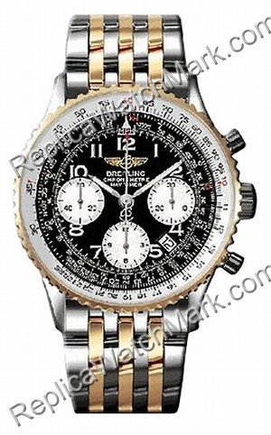 Breitling Navitimer Acciaio Mens 18kt Yellow Gold Watch D2332212