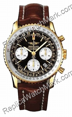 18 kt Breitling Navitimer or jaune Mens Brown Watch K2332212-B6-