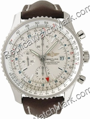 Breitling Navitimer World Steel Brown pulsera A2432212-G5-443X