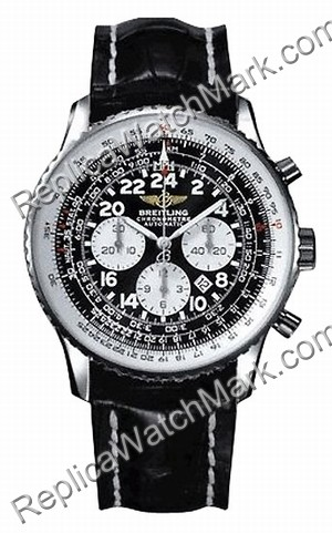 Breitling Navitimer Cosmonaute Steel Black Mens Watch A2232212-B