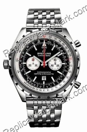 Breitling Navitimer Chrono-matic Steel Black Mens Watch A4136012