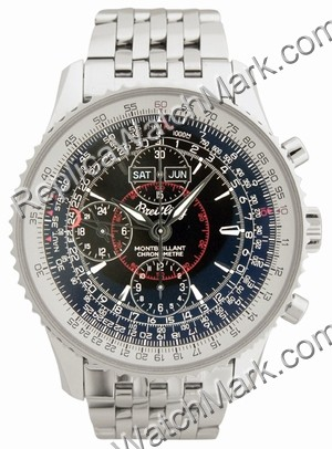 Breitling Navitimer Mens Datora Montbrilliant Steel Black Watch