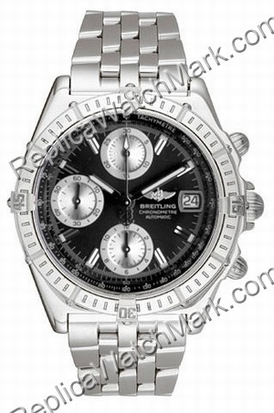 Breitling Chronomat Windrider Mens Steel Evolution Black Watch A