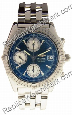 Breitling Chronomat Evolution Windrider Mens Steel Blue Watch A1