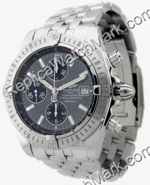 Breitling Chronomat Evolution Windrider Mens Grey Steel Watch A1