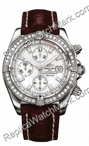 Breitling Windrider Chronomat Evolution Mens Steel Diamond Watch