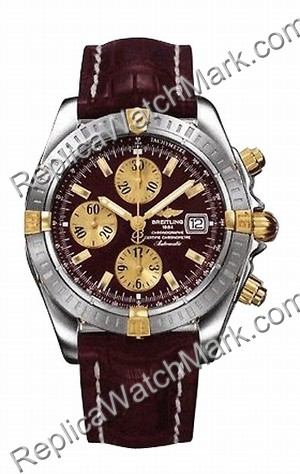 Breitling Chronomat Evolution Windrider 18kt Yellow Gold Mens St