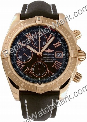 Breitling Windrider Chronomat Evolution 18kt Rose Gold Black Men