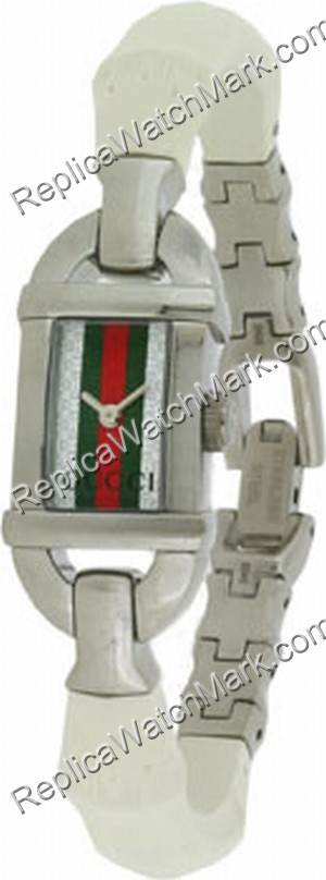 Gucci 6800 Grande White Bamboo Ladies Watch YA068544