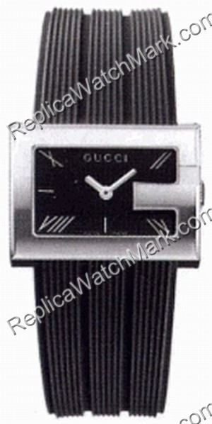 Gucci G-Watch 100G Steel Rubber Strap Mens Watch YA100304