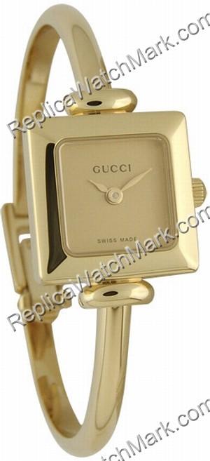 g nstige damenuhren gucci 1900 serie gold ton bangle. Black Bedroom Furniture Sets. Home Design Ideas