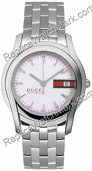 1fff26698a8 Ladies silver watches   Gucci 5505 Stainless Steel Silver Mens Watch ...
