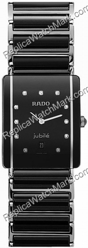 Rado Integral Jubile Diamond Black Ceramic Steel Unisex Watch R2