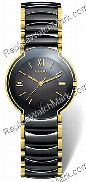 dd90e157c989 Descuento de relojes suizos   Rado Coupole Negro   Dorado-Tone Mens ...