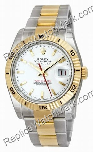 Rolex Oyster Perpetual Datejust Two-Tone Mens Watch 116263-WSO