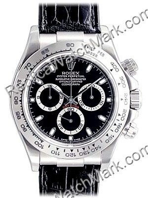 Swiss Rolex Oyster Perpetual Cosmograph Daytona 18kt White Gold