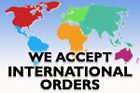 we accept international orders
